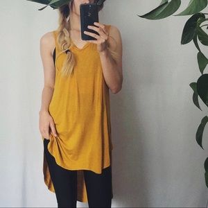 Hi-Low Oversized Mustard Tank